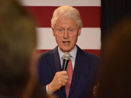 Former President Bill Clinton speaks adamantly about