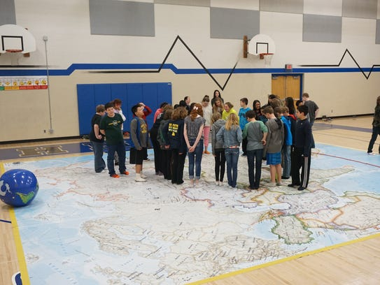 John Muir Middle School students learn about Asia as