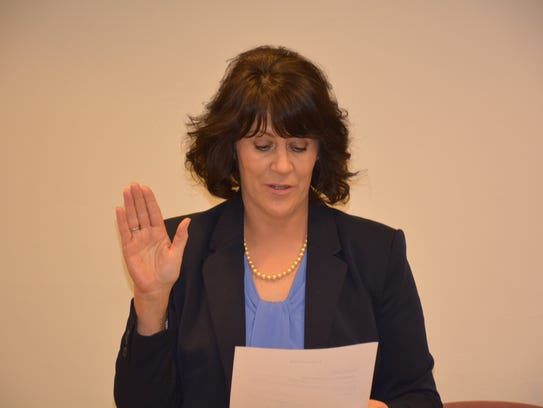 Sandy Christman, Kewaunee's first woman mayor, takes