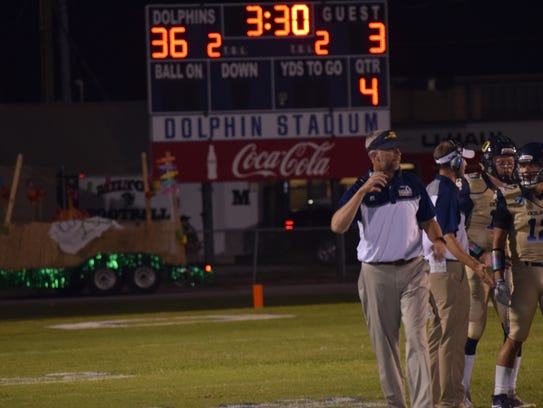 It was a good night for Gulf Breeze coach Bobby Clayton