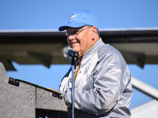 World War II veteran Charles Osborne of Laurel Springs