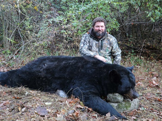 Grant Ruhl shot this 662-pound black bear on Nov. 21