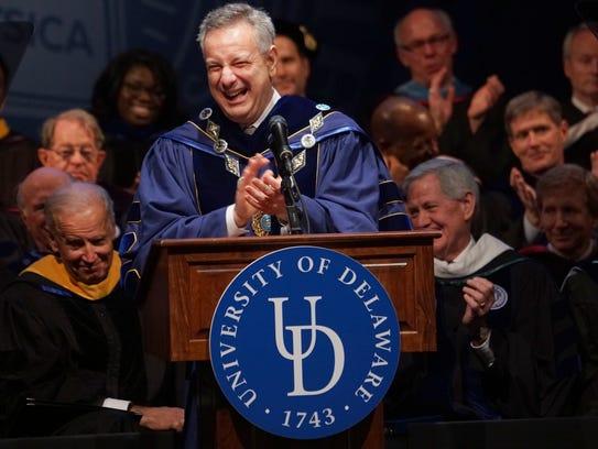 The University of Delaware's  28th president, Dennis