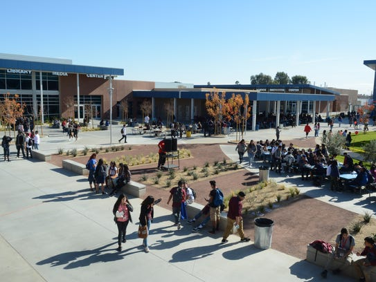 Students and staff at Indio High School stepped into