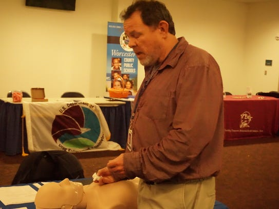 Dave Baker of the Worcester County Health Department