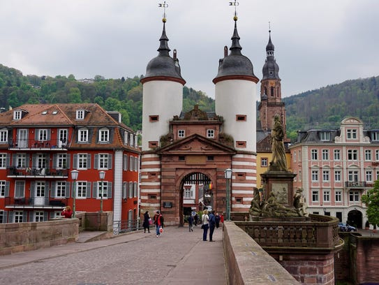 Heidelberg's Alte Brücke, built 1788, crosses the Neckar
