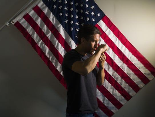 Roberto Pickering, 36, uses marijuana for post-traumatic
