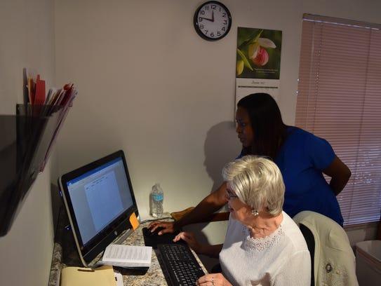 Carolyn Grant, 78, volunteers twice a week at Panira