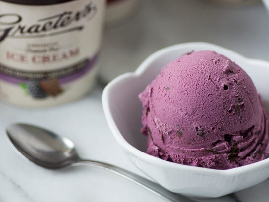 Black Raspberry Chocolate Chip is a favorite at Graeter's
