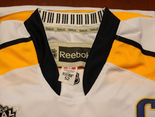 Pictured: one of the phony jerseys.