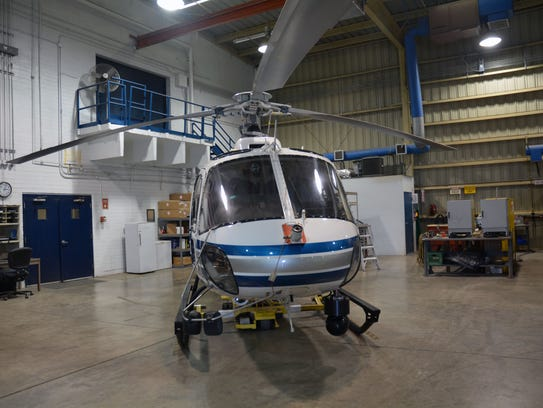 Phoenix Police have five helicopters they use for a