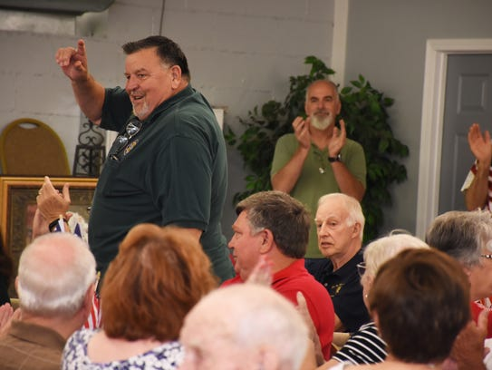 Bill Robinson was recognized for his service to his