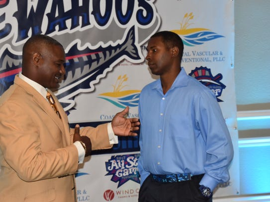 Derrick Brooks, left, and Charlie Ward, two of Florida