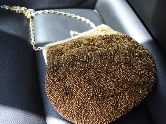 Reporter Ashley Collins bought a beaded purse from