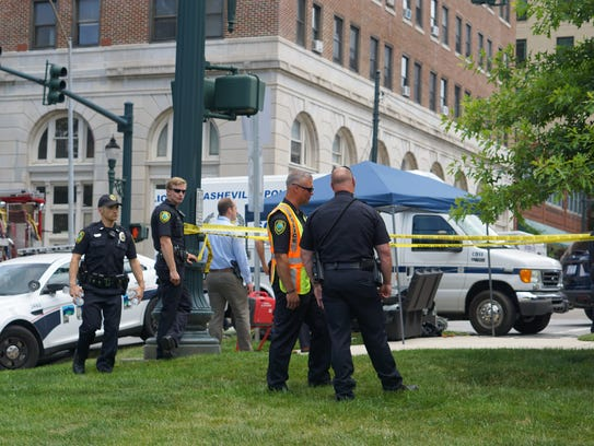 Police respond to a reported suspicious package at