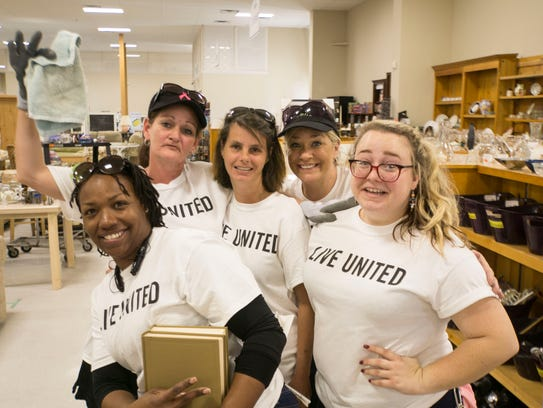 These volunteers were at United Way's ReStore.