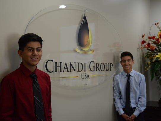 Indio High School students Juan Meza, left, and Cristian