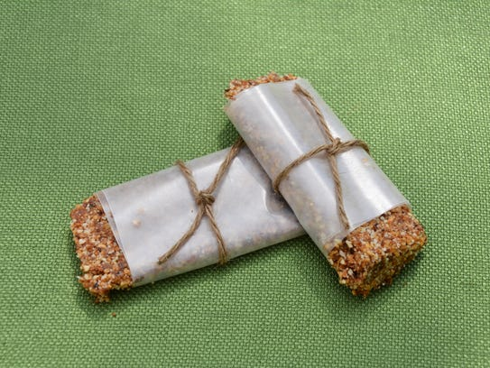 Apple Pie Larabars are wrapped in wax paper.