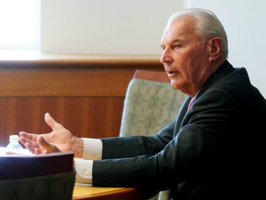 Wilmington Mayor Mike Purzycki speaks to The News Journal