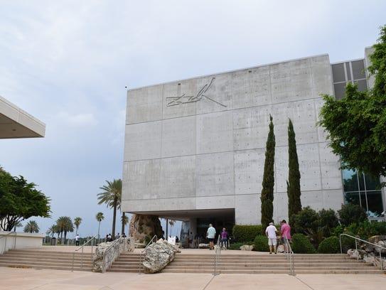 Visitors enter The Dali Museum in St. Petersburg.