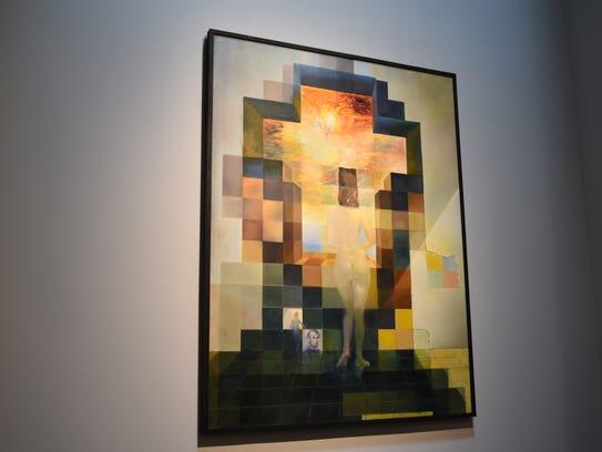 "Salvador Dali's, ""Gala contemplating the Mediterranean"
