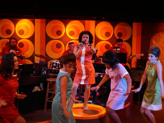 """The cast of """"Beehive"""" at Springfield Contemporary Theatre."""