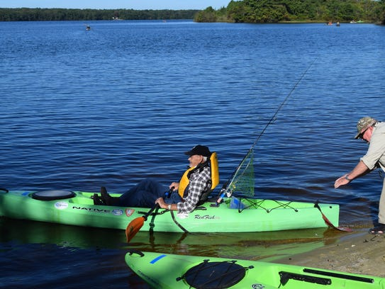 Veteran Frank Daly sets out on his first kayak trip
