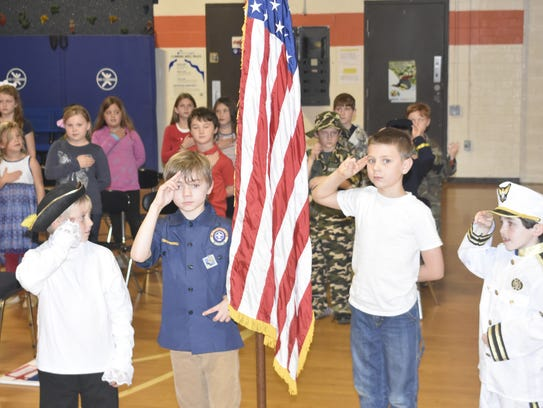 West Cheatham Elementary School second-graders perform