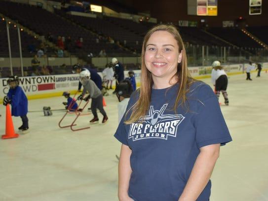 Serena Sisco, president of the Pensacola Junior Ice