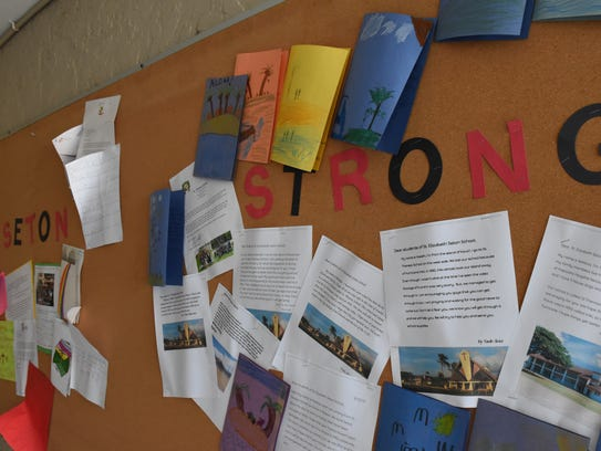 St. Elizabeth Seton Catholic School in Naples adopted the hashtag #SetonStrong after Hurricane Irma pummeled the region in September causing more than $1 million worth of damage to the Naples school. As a result, the school started a rock sharing project to spread positive messages across the community.