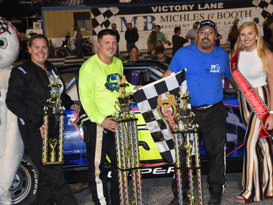 The top three finishers in Wednesday's night's Lloyd's