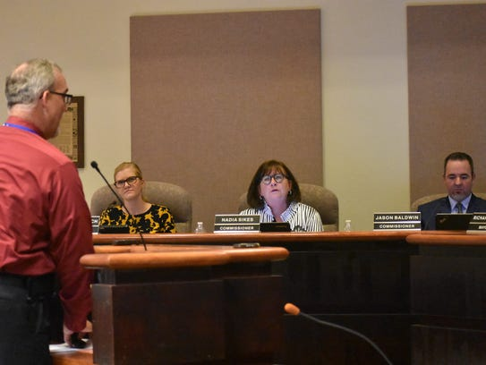 City Manager Maggie Paluch and City Commissioner Nadia