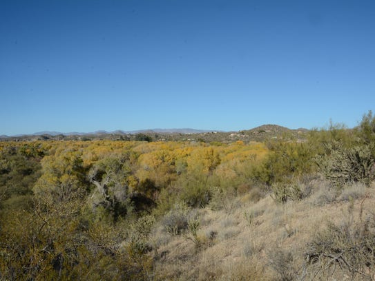 The view from the top of Lyke's Lookout at the Hassayampa