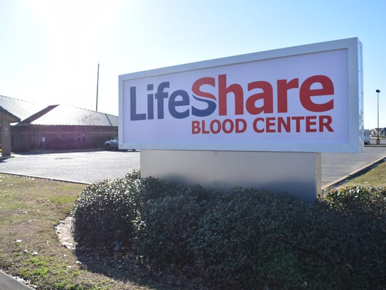 Blood donations are down at the LifeShare Blood Center