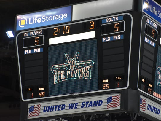 The Ice Flyers scored so many goals, the outdated Bay Center scoreboard, which no longer has replacement parts, couldn't reveal the correct score when it was 9-5.