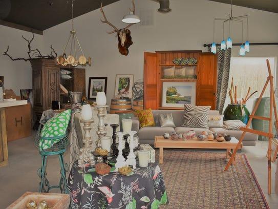 Zech Interiors features paintings, furniture, garden