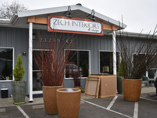 Now located at Belfair Landing, Zech Interiors is open