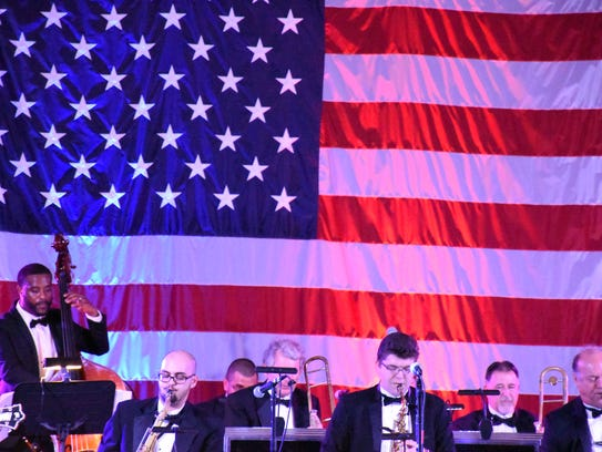 Stardust Memories big band plays at the 2018 Butterfly