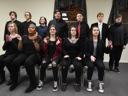 Members of the Central High School choir perform during