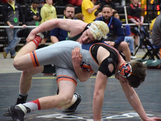 Wilson Memorial's Chase Wilson takes down Union's Bryce