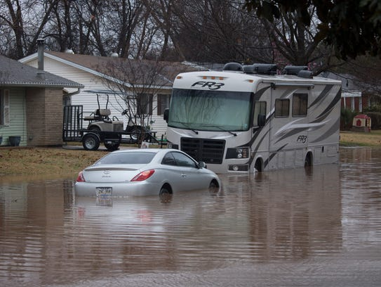 Flooding in Bossier City in the Glendale Subdivision