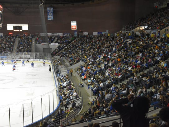 The Ice Flyers attracted a sellout crowd of 8,049 Saturday