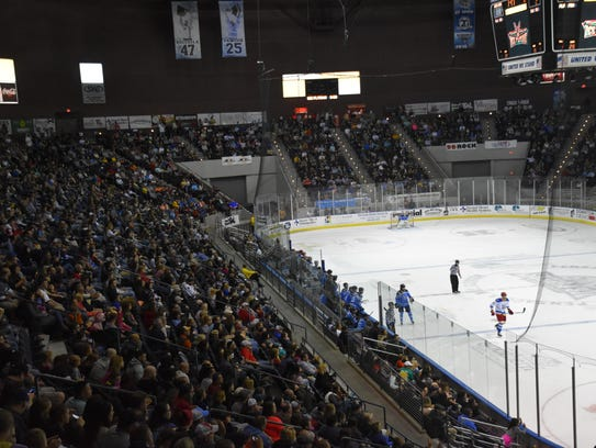 In two games this weekend, the Ice Flyers attracted