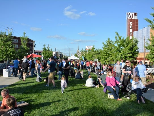 Visitors gather for Oakley After Hours. This year's