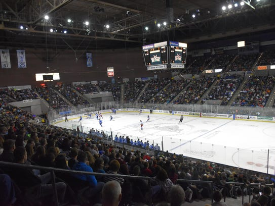 The Ice Flyers attracted a sellout crowd of 8,049 for