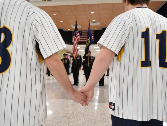 Students at Seaford High School on Wednesday morning listened to taps for 125 seconds – one second for each student lost in school-related violence since the 1999 shooting at Columbine.