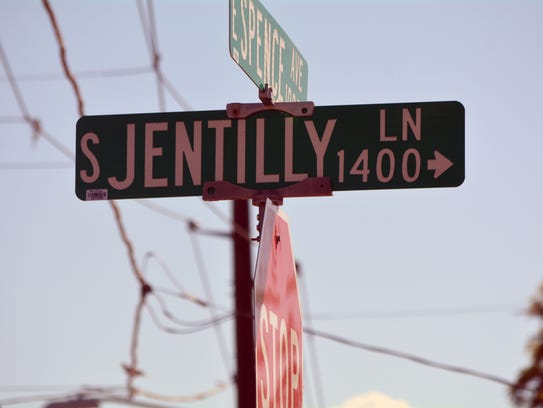 A street sign in Tempe's Jen Tilly Terrace neighborhood, which will become home to one of Arizona's first small home communities.