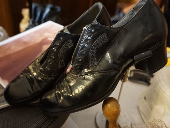In a March 30, 2018 photo, shoes from Erin Sigl and