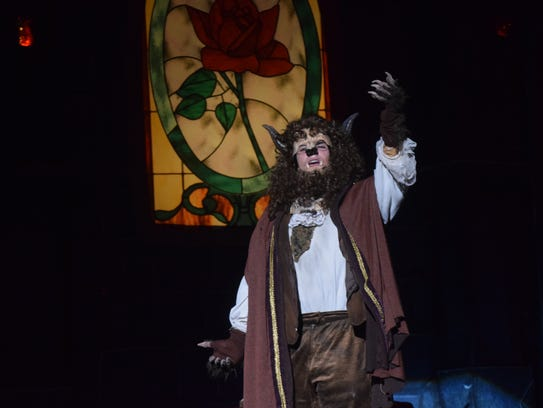 """The Holy Savior Menard Theatre Arts, under the direction of Cherise Rino, is set to present Disney's """"Beauty and the Beast"""" beginning Wednesday (April 11, 2018) through Sunday at the Coughlin-Saunders Performing Arts Center in downtown Alexandria. Starring as the  Beast is Jordan Willis. The heroine Belle is portrayed by Claire Marie Miller and William Sadler portrays Gaston. The musical is about a prince who is transformed into a beast by an enchantress as punishment for his selfishness. His staff is transformed into household objects. Falling in love is the only way for him to break the spell. Showtimes are 7 p.m. Wednesday through Saturday and at 2 p.m. Saturday and Sunday. Tickets are $15 and can be purchased at the door, the Menard front office or at www.ticket-central.org. For more information, call (318) 445-8233."""