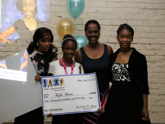 Kyla Morris received a $1,000 scholarship at the 2017
